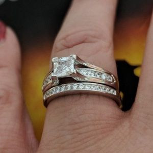 Jewelry - STERLING SILVER CATHEDRAL WEDDING SET